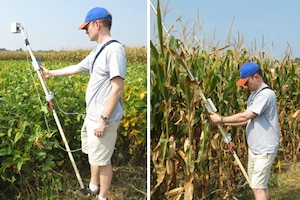 The Image Based Feature Extraction (IBFE) focuses on remote sensing techniques for agricultural crop delineation. Spectral Reflectance measurements of crop types are collected using handheld spectroradiometers; Cropscan and ASD Fieldspec. This GRL project is in collaboration with the USDA Agricultural Research Service.