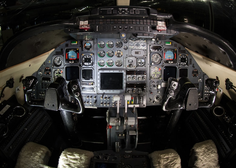 DAYTON, Ohio -- Learjet C-21A cockpit at the National Museum of the U.S. Air Force. (U.S. Air Force photo by Ken LaRock)