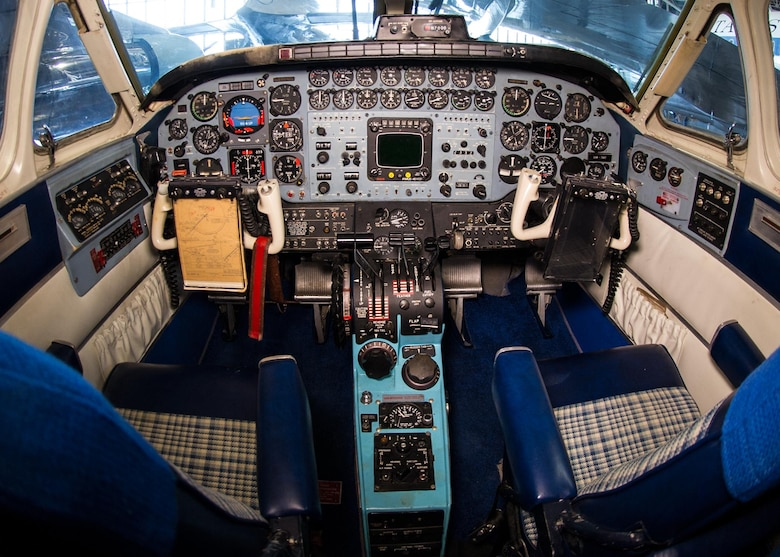 DAYTON, Ohio -- Beech VC-6A cockpit at the National Museum of the United States Air Force. (U.S. Air Force photo)