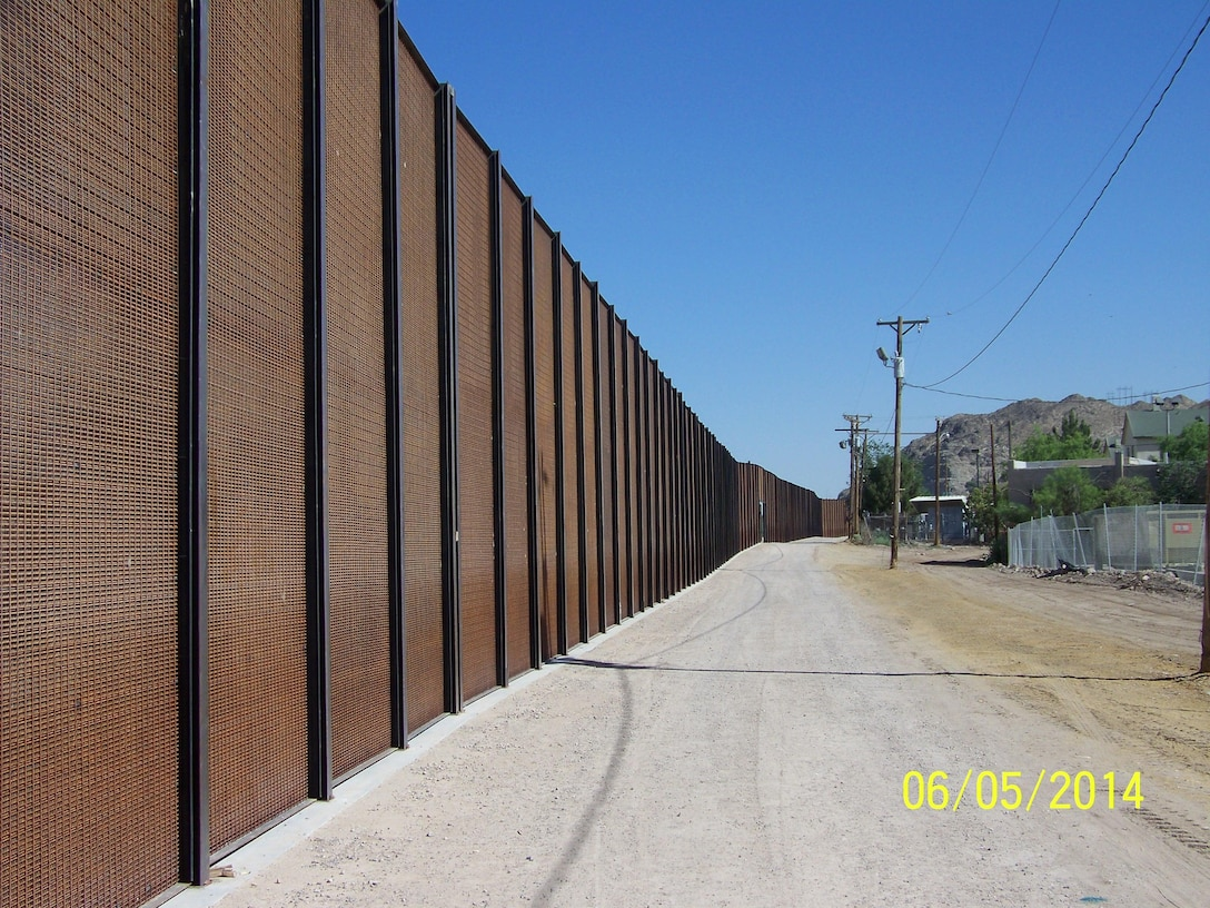 """A portion of the border fence in El Paso, Texas."" Photo by Art Aranda, June 5, 2014."