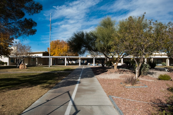 Lomie G. Heard Elementary School was constructed on Nellis Air Force Base in 1951 and will no longer be part of the Clark County School District (CCSD) at the end of the 2015-2016 school year. CCSD leases the land on Nellis AFB where Lomie G. Heard is located. The lease will expire at the end of the current school year and the U.S. Air Force is currently in negotiations with Coral Academy of Science Las Vegas to bring a public charter school on base. CASLV, which will be free for students to attend, plans to temporarily operate out of the Lomie G. Heard facility while construction of the new permanent campus is built. (U.S. Air Force photo by Staff Sgt. Siuta B. Ika)