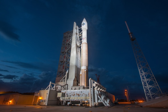 The 45th Space Wing supports NASA's launch of Orbital ATK CRS-4, aboard a United Launch Alliance Atlas V rocket to the International Space Station from Space Launch Complex 41 at Cape Canaveral Air Force Station, Fla., Dec. 6, 2015. This will be the first flight of an enhanced Cygnus spacecraft to the ISS. Orbital ATK's fourth contracted cargo resupply mission with NASA to the ISS will deliver more than 7,000 pounds of science and research, crew supplies and vehicle hardware to the orbital laboratory and its crew. (Courtesy photo /United Launch Alliance) (For limited release)