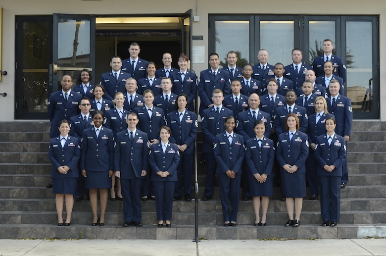 Forty three Reserve Airmen from the 920th Rescue Wing graduated with an associate's degree from the Community College of the Air Force Dec. 5 in a ceremony at Patrick Air Force Base, Florida. (U.S. Air Force photo/Tech. Sgt. Mike Means)