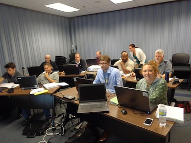 ALBUQUERQUE, N.M. – Revit MEP Fundamentals training for District employees, Aug. 25, 2015. Photo by Paul Rebarchik.