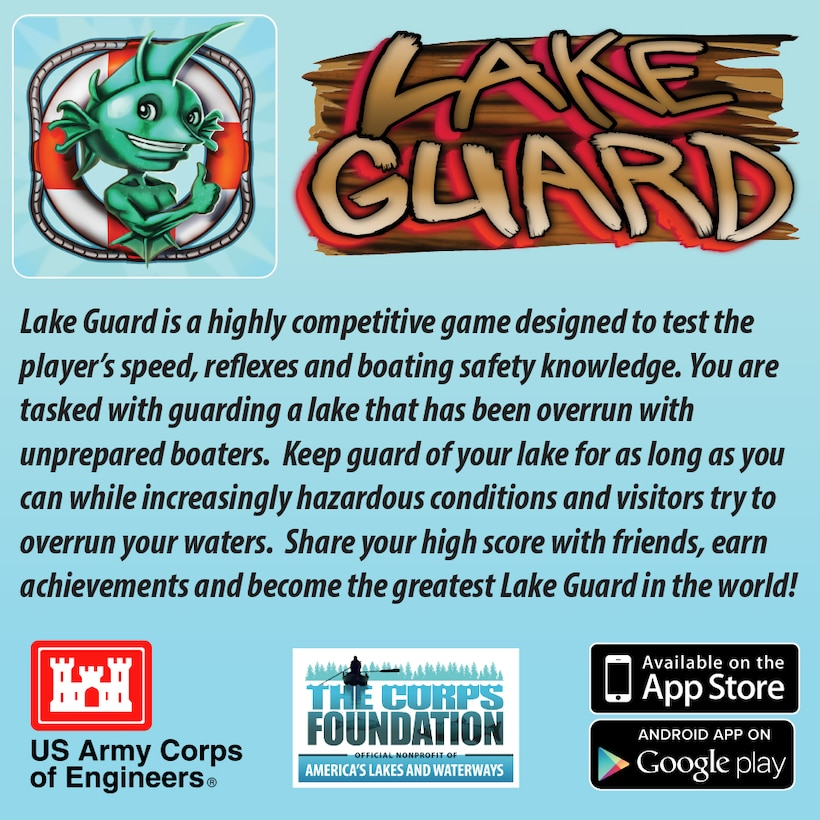 Lake Gaurd Game App Ad