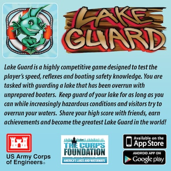 Lake Guard Game App Ad