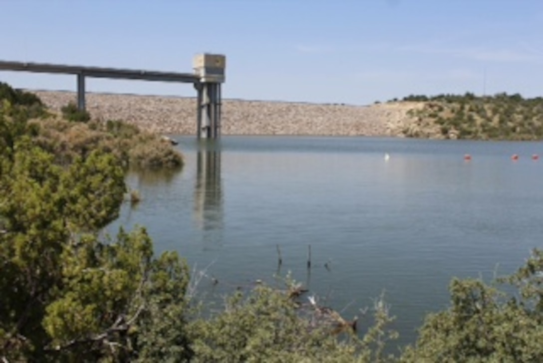 SANTA ROSA LAKE, N.M. – The tower at the lake is seen in this 2015 photo drive entry, June 21, 2015. Photo by Rowena Sanchez.