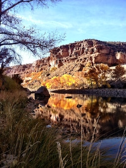 ABIQUIU DAM, N.M. – Fall colors are seen in the Rio Chama Recreation Area along the Rio Chama, Sept. 1, 2015.  Photo by Austin Kuhlman.