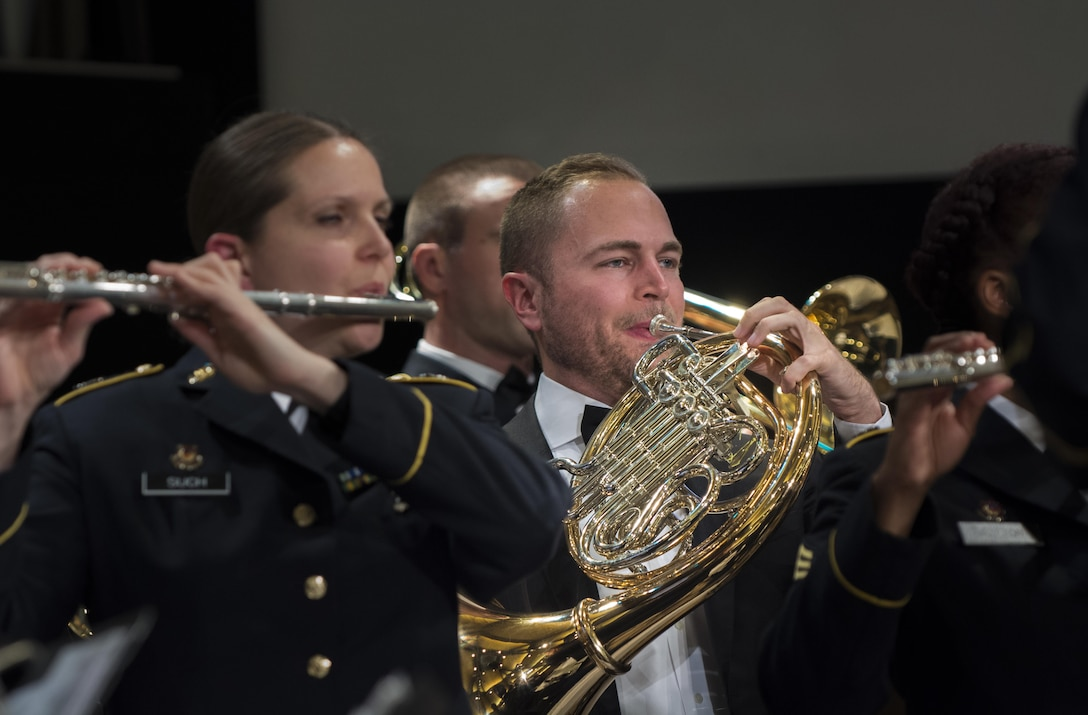 The 85th Army Band performs at their Veterans Day celebration commemorating veterans, the local community and former band members.