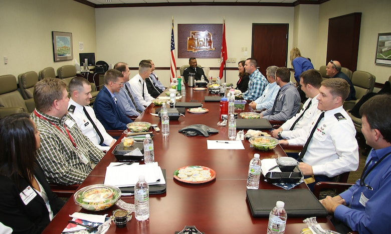 U.S. Army Chief of Engineers and Commanding General of the U.S. Army Corps of Engineers Lt. Gen. Thomas P. Bostick, met with members of the Tulsa District's Leadership Development Program Dec. 8, 2015 at the Tulsa District office.  Bostick visited the Tulsa District to thank district employees for their hard work in meeting challenging mission requirements and maintaining positive stakeholder relationships.  (U.S. Army Photo by Preston L. Chasteen/Released)