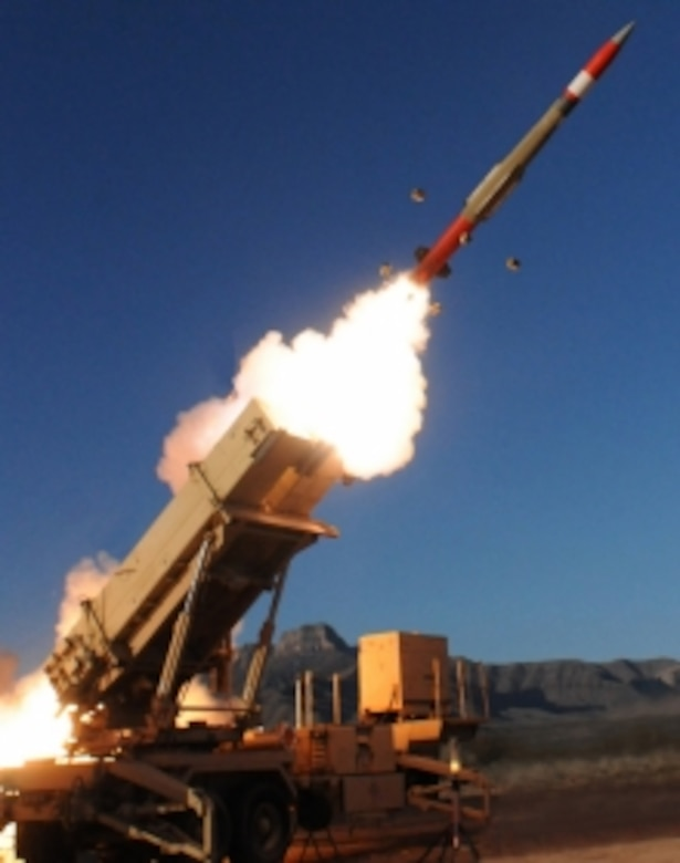 A Patriot Advanced Capability-3 Missile Segment Enhancement (PAC-3 MSE) interceptor system, such as the one pictured here, successfully destroyed a Juno target vehicle  provided by Air Force Space Command's Space and Missile Systems Center, during a test of the U.S. Army Lower Tier Project Office Patriot missile defense system at White Sands Missile Range, New Mexico, Dec. 10, 2015. The Patriot Target Vehicle, also known as Juno, was designed to provide a realistic threat target. SMC's Rocket Systems Launch Program and its mission partners re-utilizes excess motors from ICBMs for U.S. government research, development, test and evaluation efforts. The Juno PTV incorporates two solid rocket motors from the LGM-30F Minuteman II weapon system, which was retired in 1994.