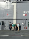 DLA Distribution Norfolk, Va., staff treats OSHA staff to a tour of the USS Wasp (LHD 1) during their recent STAR recertification visit.