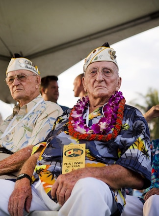 World War II veteran John Seelie, a survivor of the attacks on Pearl Harbor, attends the opening ceremony of the Pearl Harbor Memorial Parade on Fort DeRussy Park in Honolulu, Dec. 7, 2015. U.S. Marine Corps photo by Lance Cpl. Miguel Rosales