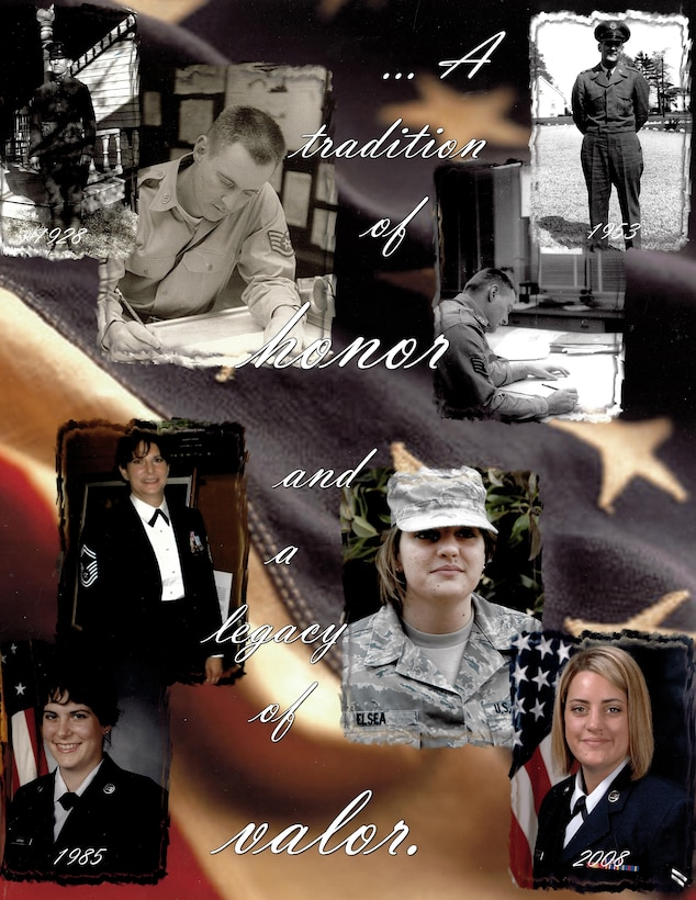 Depicted are four generations of military service members. (U.S. Air Force photo illustration by Staff Sgt. Rachelle Blake)