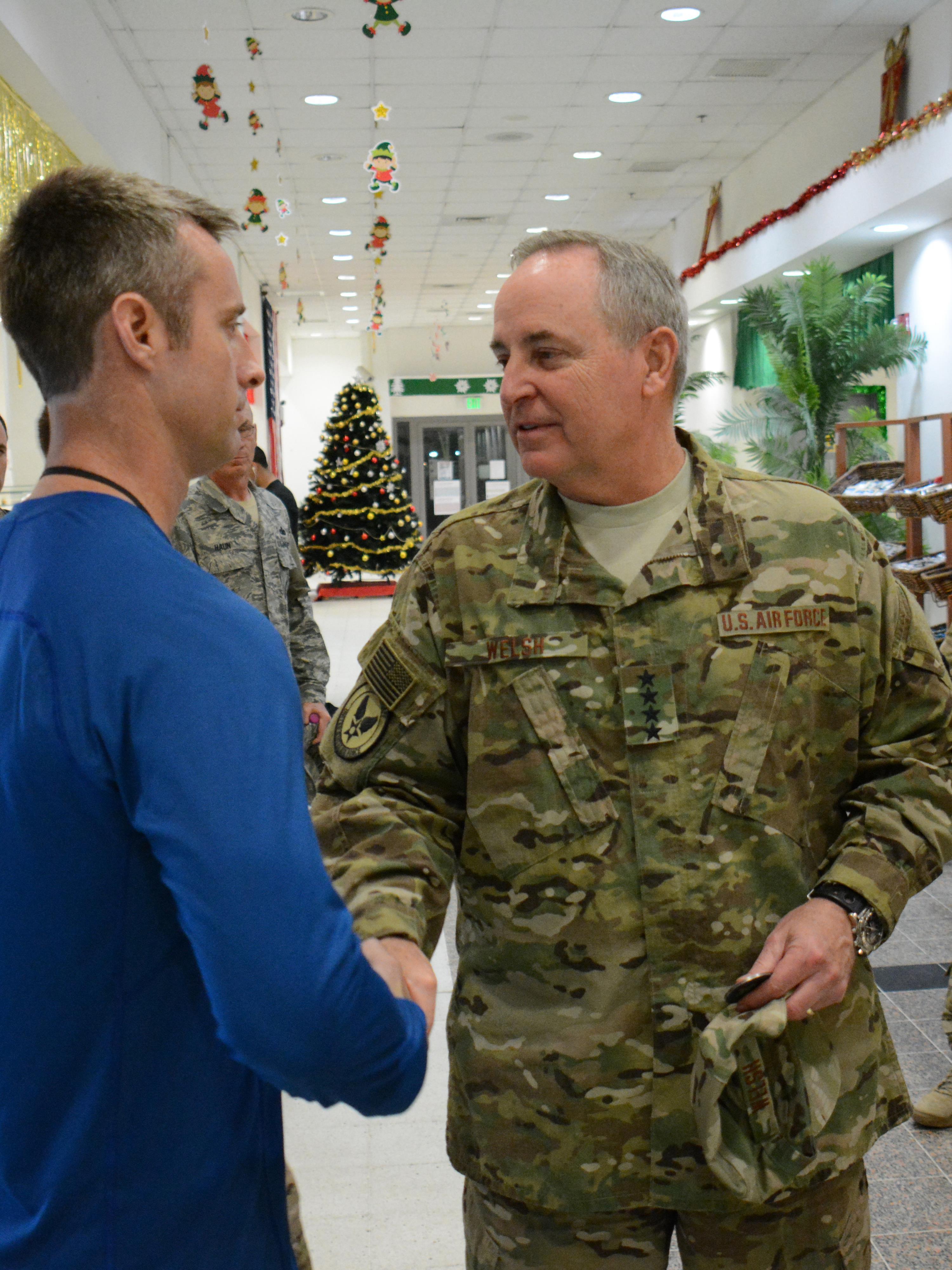 Csaf Cmsaf Bring Message Of Thanks To Deployed Airmen