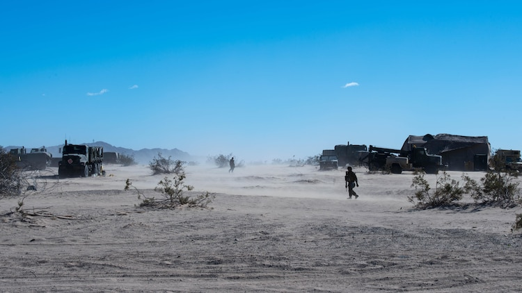 The 1st Marine Division conducted Exercise Steel Knight at Marine Corps Air Ground Combat Center Twentynine Palms, California, Dec. 12, 2015. The exercise enables the Marines and sailors to operate in a realistic environment to develop skill sets necessary to maintain a fully capable Marine Air Ground Task Force.