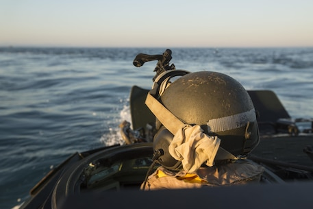 U.S. Marine Lance Cpl. David Belgard drives an AAV-P7/A1 Amphibious Assault Vehicle through the water during an amphibious assault at Fog Bay, Australia, July 11, 2015. The Marines with Echo Company, Battalion Landing Team 2nd Battalion, 5th Marines, 31st Marine Expeditionary Unit, and Australians with Combat Team Bravo, 2nd Battalion, Royal Australian Regiment, assaulted the beach and moved inland to secure additional objectives as part of Talisman Sabre 2015.  Talisman Sabre is a biennial exercise designed to improve the interoperability between Australian and U.S. forces. The 31st MEU is taking part in the exercise while deployed on its regularly scheduled Fall Patrol of the Asia-Pacific region. Belgard, a native of Huffman, Texas, is an AAV crew chief with Echo Co., BLT 2/5, 31st MEU. (U.S. Marine Corps photo by Staff Sgt. Zachary Dyer/Released)