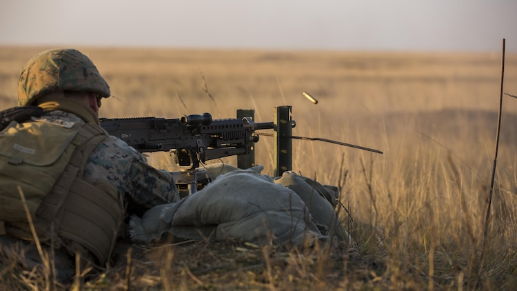 U.S. Marines with Combined Arms Company, Black Sea Rotational Force, conduct field training with Romanian and Moldovan armed forces during Platinum Lynx 16-2 at Smardan Training Area, Romania, Dec. 9, 2015. Exercise Platinum Lynx 16-2 is a NATO-led multinational exercise designed to strengthen combat readiness, increase improve collective capabilities, and maintain proven relationships with allied and partner nations.