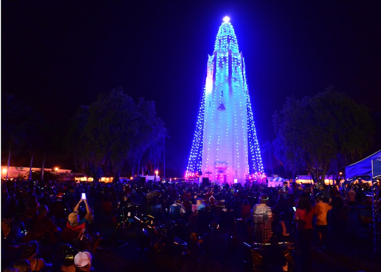 Nearly 4000 service members and their families attended the 46th Annual Freedom Tower Lighting celebration on & Lighting up the night - JBPHH hosts the 46th Annual Freedom Tower ...