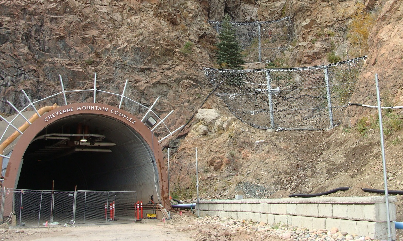 Cheyenne mountain north portal work nearing completion peterson air force base display - Portal entree ownership ...