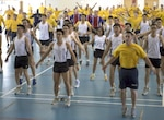 150716-N-HI414-141 SINGAPORE (July 16, 2015) – U.S. and Republic of Singapore military members perform aerobic exercises during Cooperation Afloat Readiness and Training (CARAT) Singapore 2015. In its 21st year, CARAT is an annual, bilateral exercise series with the U.S. Navy, U.S. Marine Corps and the armed forces of nine partner nations including, Bangladesh, Brunei, Cambodia, Indonesia, Malaysia, the Philippines, Singapore, Thailand and Timor-Leste. (U.S. Navy photo by Mass Communication Specialist 2nd Class Gregory A. Harden II/Released)