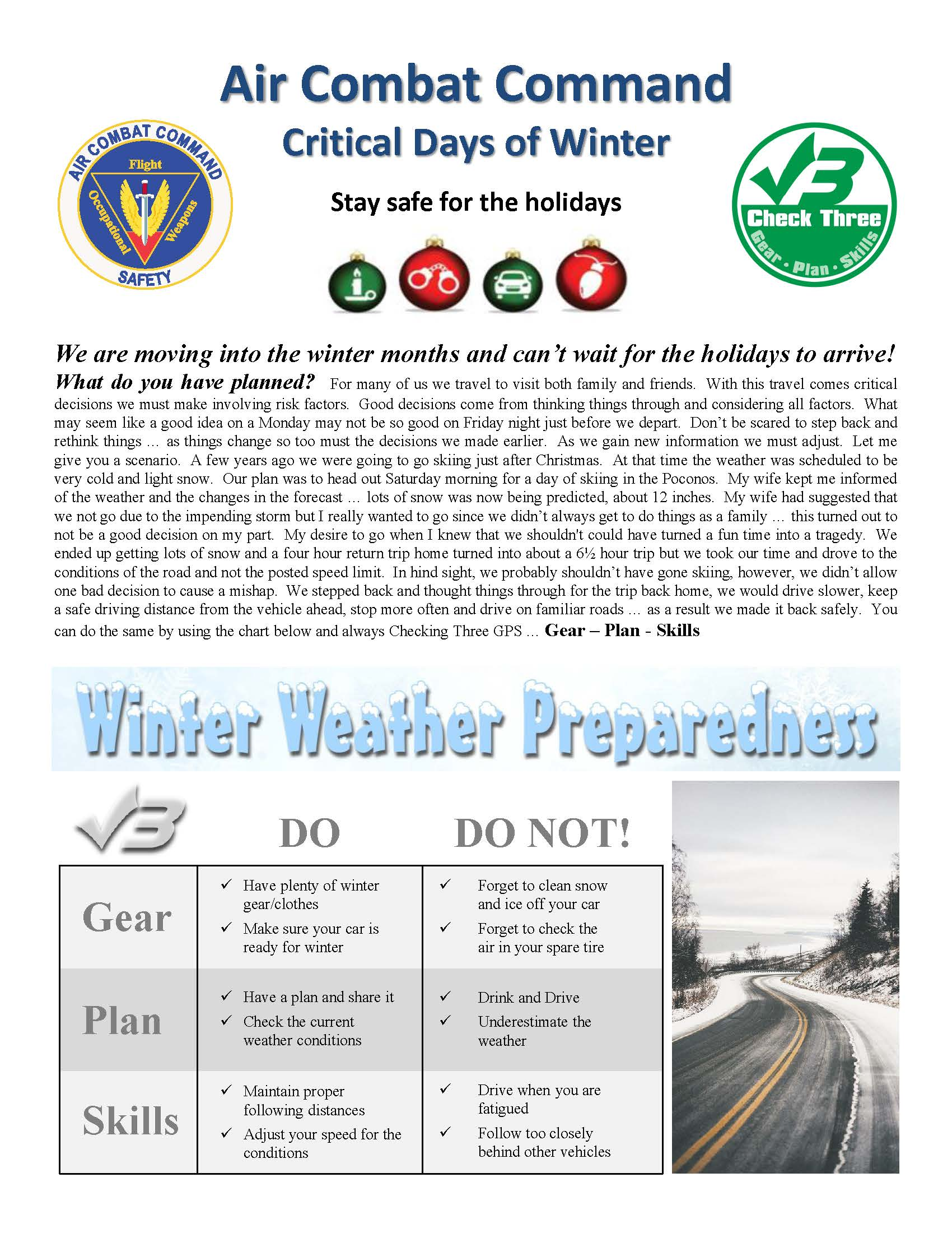 Holiday Safety Message > Holloman Air Force Base > Article ...