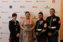 PALO ALTO, Calif. - San Francisco Marines recognize Jasmin Cardenas-Gonzales, a San Jose native and Everett Alvarez High School student, with the United States Marine Corps and Hispanic Heritage Youth Leadership Award during a ceremony at Stanford University, Dec. 2, 2015. The award was presented to Cardenas-Gonzales in recognition of her leadership within her school and her community. She demonstrated her leadership through her exemplary academic record, and the extensive amount of hours she's volunteered in her community.