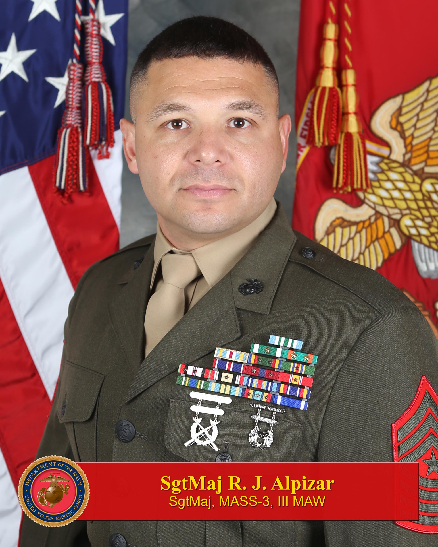 sergeant major rammses j alpizar > 3rd marine aircraft wing hi res photo