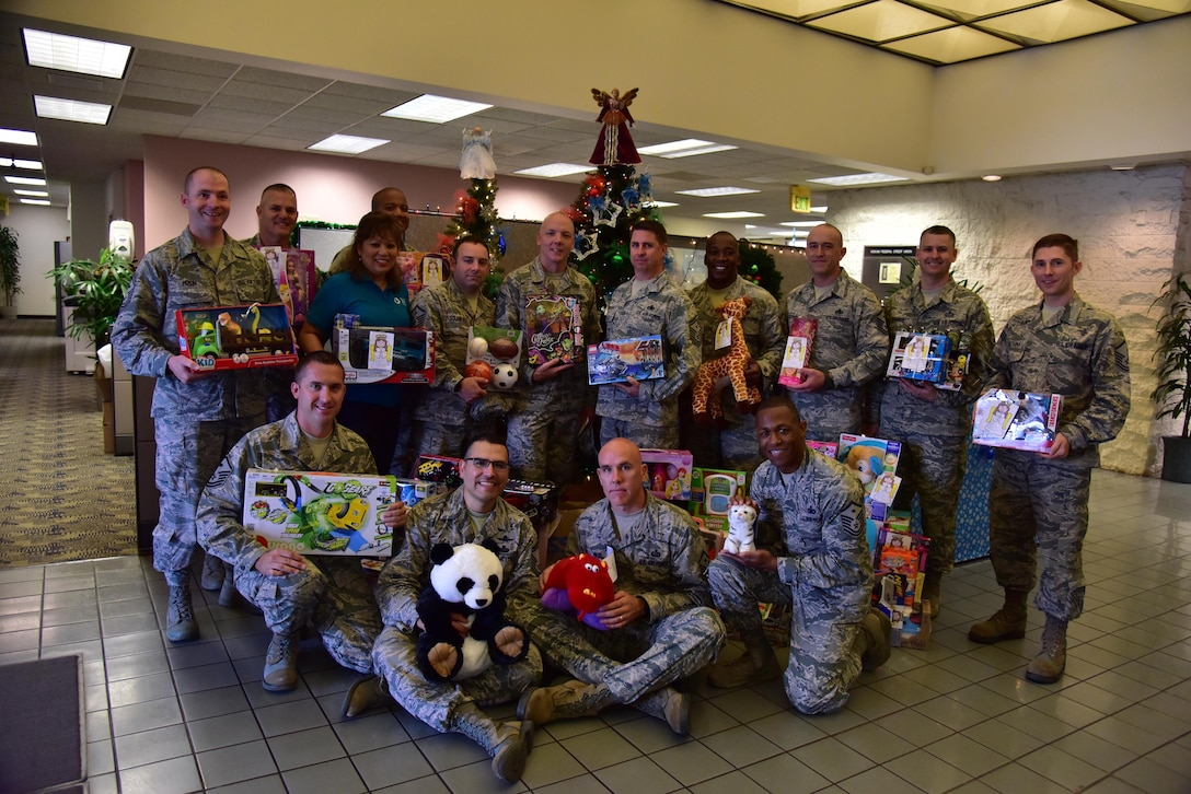 The Angel Tree program, which provides monetary assistance and gifts to Airmen, is a seasonal charitable program ran by members of Operation Warmheart. (U.S. Air Force photo by Staff Sgt. Christopher Stoltz)