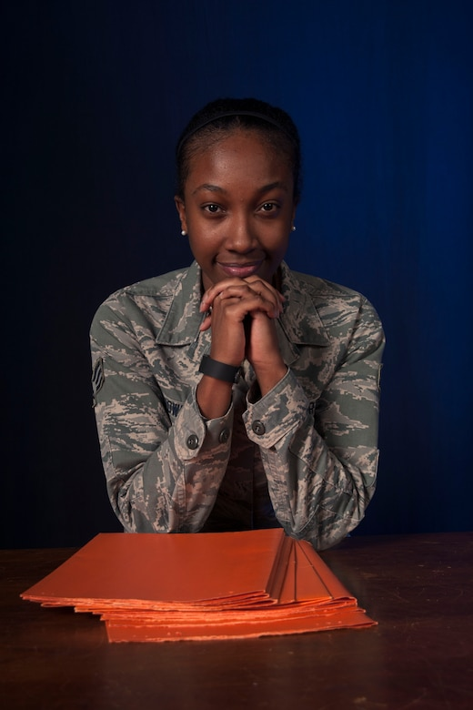 Senior Airman Tamara Brown, 30th Medical Support Squadron Physical Evaluation Board Liaison Officer, poses for a photo, Dec. 15, 2015, Vandenberg Air Force Base, Calif. With military members continuing to focus on operations around the globe, maintaining a stringent level of physical and mental readiness is an Air Force requirement. For those individuals who find themselves no longer fit for duty however, one Airman is charged with providing a seamless transition into the civilian world – the Physical Evaluation Board Liaison Officer. (U.S. Air Force photo by Senior Airman Shane Phipps/Released)