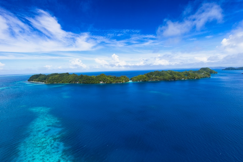 An island in Republic of Palau, Dec. 11, 2015, during Operation Christmas Drop 2015. This year marks the 64th year of Operation Christmas Drop, which began in 1952, and is the first trilateral execution of the event with support from Japan Air Self-Defense Force and Royal Australian Air Force C-130s. (U.S. Air Force photo by Osakabe Yasuo/Released)