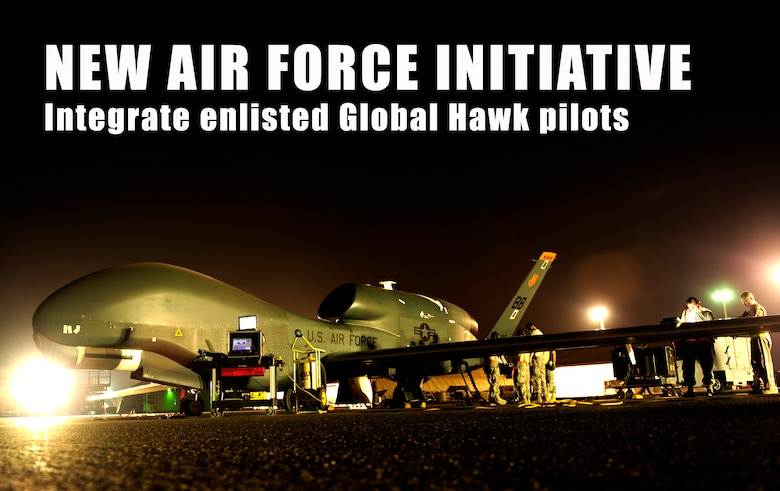 Air Force officials announced a new initiative Dec. 17 to enhance the Intelligence, Surveillance and Reconnaissance mission by integrating enlisted remotely piloted aircraft pilots into the force. (U.S. Air Force photo/Staff Sgt. Andy M. Kin)