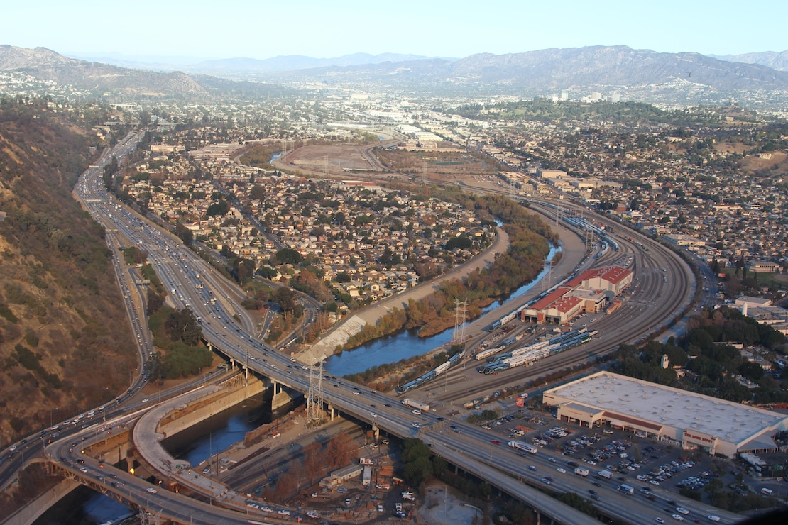 The Los Angeles River snakes its way through Glendale, California, and is up for restoration along an 11-mile stretch to reestablish scarce riparian strand, freshwater marsh and aquatic habitat, while maintaining existing levels of flood risk management.