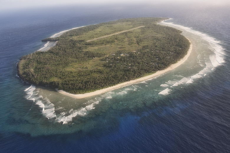 Aerial image of Fais Island, Ulithi Atoll, Federated States of Micronesia, Dec. 8, 2015. (U.S. Air Force photo by Osakabe Yasuo/Released)
