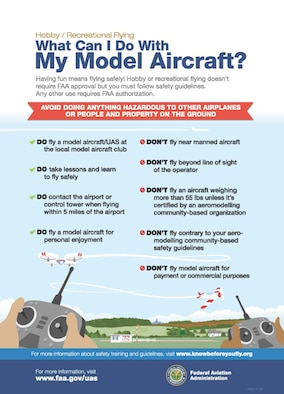 FAA model aircraft do's and don'ts