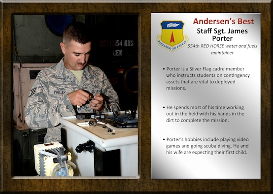 Team Andersen's Best recognizes Airmen and civilian professionals for outstanding contributions to mission and team success. As spotlight performers, individuals are chosen by base leaders for demonstrating the Air Force's core values of integrity first, service before self, and excellence in all we do.
