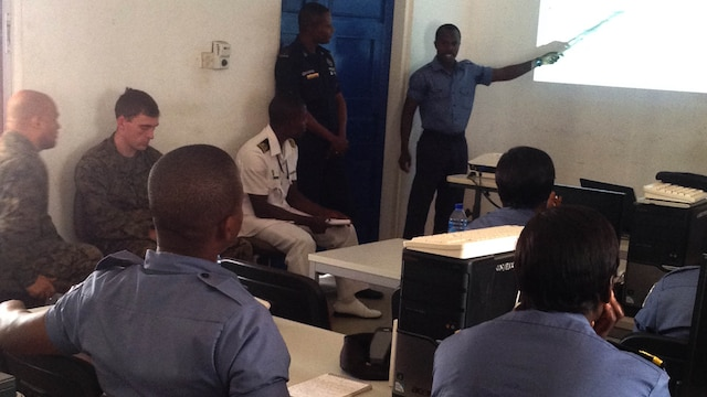 U.S. service members recently completed the second module of Tactical Intelligence Support to Maritime Operations course for the Ghanaian Navy and Maritime Police Force, Dec. 7-18, at Ghana's Eastern Naval Command Headquarters here. This course has already paid dividends, according to Foster Kotoku, the Ghanaian Maritime Police Force assistant superintendent. During the two-week course, students from the Ghanaian Maritime Police Force seized an undisclosed amount of illicit drugs from a smuggler on a ferry. With follow-on questioning, the police forces were led to a higher connection in the drug trade.