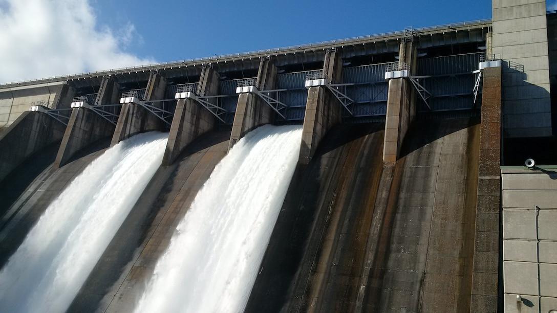 Spillway release at Beaver Dam Dec. 21.
