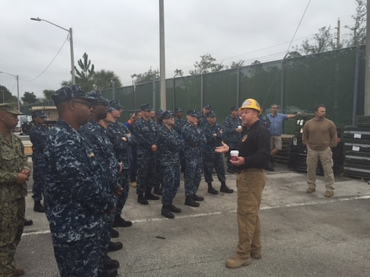 Disposition Services Unit Six sailors receive an overview brief of the weekend's skills training evolutions.
