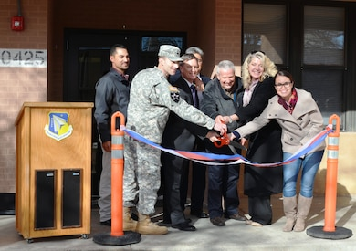 KIRTLAND AIR FORCE BASE, N.M. -- Representatives from the District participated in a ribbon-cutting ceremony, Dec. 16, 2015, to officially open the newly renovated Building 425 on base.
