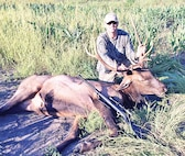 Maj. Matt Leblanc of the 97th Military Police Battalion successfully bagged a bull elk in early September. LeBlanc had the good fortune of being drawn for the bull tag this year. Drawings are held that allow hunters to pursue elk on Fort Riley.