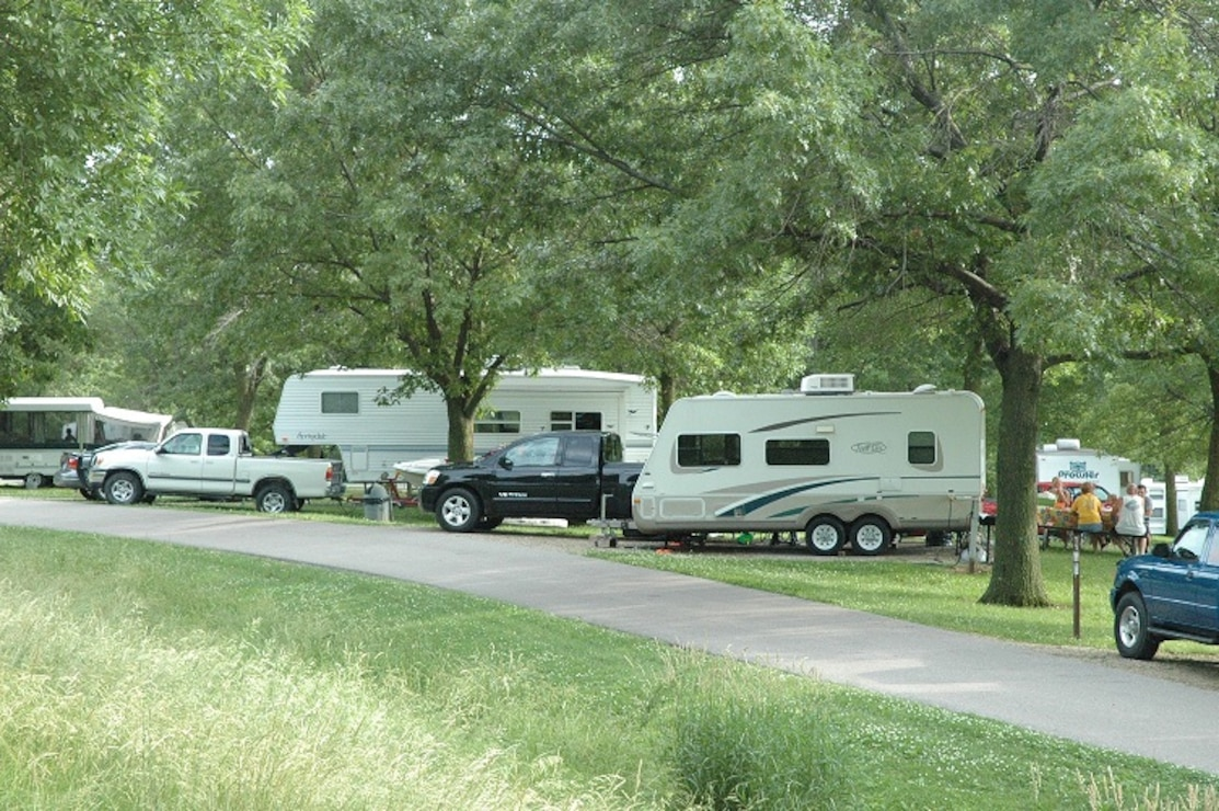 Campers at Whitebreast Campground