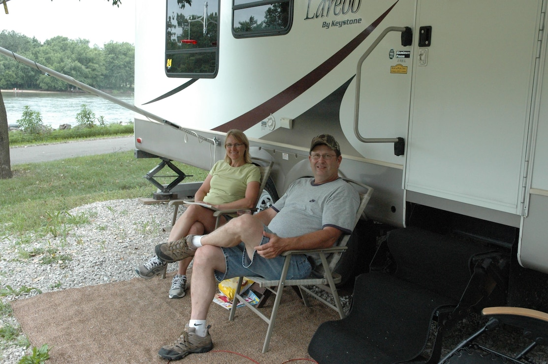 Campers at Howell Station Campground