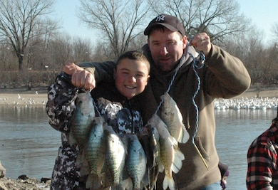 Father and Son with Fish