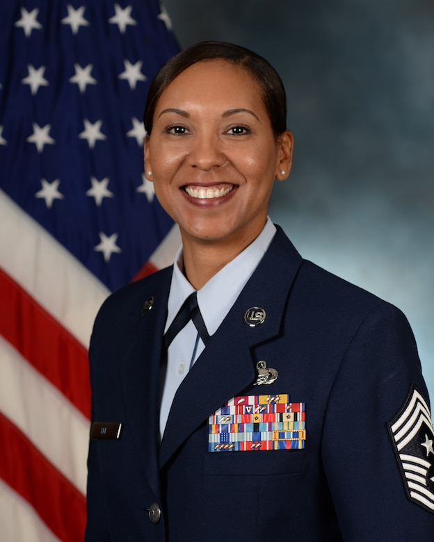 Chief Master Sgt. Sonia Lee, 28th Bomb Wing command chief, leads the wing's enlisted force and serves as the primary advisor to the commander on matters concerning morale, welfare, war-fighting effectiveness, operational utilization and professional development for more than 3,100 enlisted Airmen who support the largest B-1 combat wing in the U.S. Air Force. (U.S. Air Force photo by Airman 1st Class James Miller/Released)