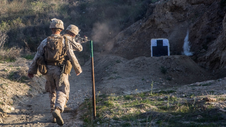 U.S. Marines with Special-Purpose Marine Air-Ground Task Force Crisis Response-Africa participate in a live-fire range during a week-long bilateral exercise with Spanish Legionnaires, near Almeria, Spain, Dec. 14-18, 2015. The presence of U.S. Marines from SPMAGTF-CR-AF, based in Morón Air Base, Spain has enabled a notable increase in joint training opportunities between the two NATO allies.