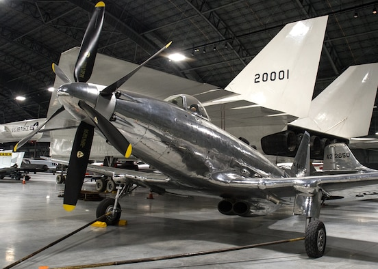 Fisher P-75A Eagle in the R&D Gallery at the National Museum of the U.S. Air Force on December 28, 2015. (U.S. Air Force photo)