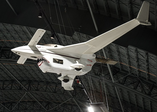 """Long-EZ """"Borealis"""" in the Research & Development Gallery at the National Museum of the U.S. Air Force on December 28, 2015. (U.S. Air Force photo)"""