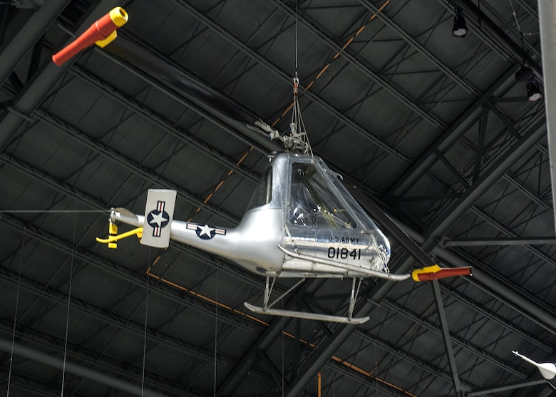 American Helicopter Co. XH-26 Jet Jeep in the Research & Development Gallery at the National Museum of the U.S. Air Force on December 28, 2015. (U.S. Air Force photo)