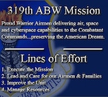 Proud warrior Airmen delivering air, space and cyberspace capabilities to the Combatant Commands. Preserving the American dream.